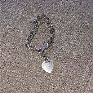 Tiffany heart tag and charm bracelet
